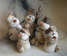 result for pottery suggestions christmas - Diy and craft Clay Christmas Decorations, Polymer Clay Christmas, Christmas Ornaments, Christmas Christmas, Snowman Crafts, Christmas Projects, Holiday Crafts, Diy Y Manualidades, Navidad Diy
