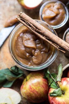 Homemade Slow Cooker Maple Apple Butter | halfbakedharvest.com @hbhharvest
