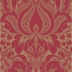 The Wallpaper Company 56 sq. ft. Red Large Scale Damask Wallpaper-WC1281126 - The Home Depot