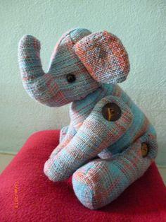 handmade elephant cuddly toy £10.00