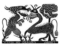 J Borges, A briga dos dragões