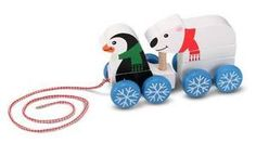 Penguin & Polar Bear Pull Toy for Toddlers