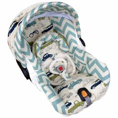 Infant Car Seat Cover in Vintage Cars