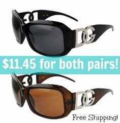 Designer Inspired Glasses for CHEAP! http://fabulesslyfrugal.com/2013/05/dg-designer-sunglasses-only-8-50-for-2-pair.html