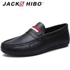 JACKSHIBO 2017 Summer Autumn Men Casual Shoes On Sale Classic Man Loafers  Simple Design Quality Slipon 9c9c94b4b8d5