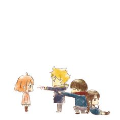 -Kyoukai no Kanata (Beyond the Boundary) , Anime Siblings, Anime Couples, Kawaii Chibi, Kawaii Anime, Katana, Manga Anime, Anime Art, Beyond The Boundary, Otaku