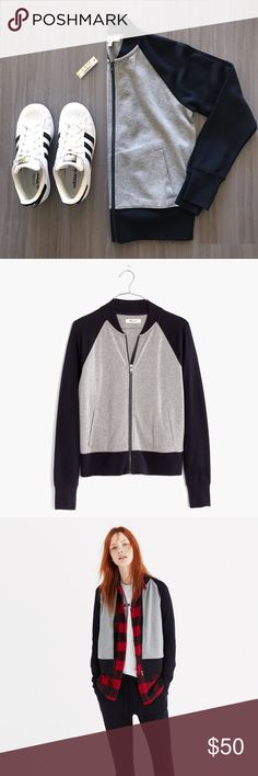 Bomber jacket Brand new with tags! This slim-fit bomber jacket makes for a great addition to any athleisure look. Madewell Jackets & Coats