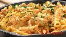 ☼ The CURRY CARBONARA This recipe is born from the fusion between the typical carbonara with cream and our mild curry sauce. Pasta Pollo, Pasta Recipes, Chicken Recipes, Easy Carbonara Recipe, Curry Pasta, Pasta Facil, Fried Tomatoes, Mushroom Pasta, Evening Meals