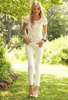 Lilly Pulitzer Fall '13- Jamie Sweater; So in LOVE with all-white autumns/winters