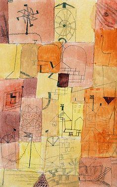 Paul Klee: Stadt eines Kindes mit Windmühle. 1919