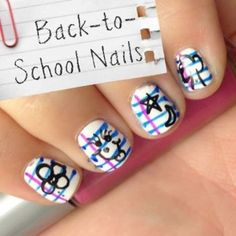 Take a Note! These Trendsetting Paper Doodle Nails Are Perfect for Back-to-School | At Home - Yahoo! Shine