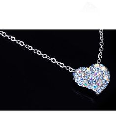 Mini Heart Crystal Necklace http://w-jewelries.com/necklace/mini-heart-crystal-necklace-w-jewelries.html
