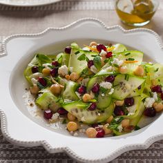 The simple ingredients in this refreshing salad provide a contrasting blend of warm, festive colours. It's a beautiful stand-alone salad and is best served with some crusty bread for a quick lunch or as a side dish.If using canned chickpeas is unavoidable, be sure to soak them in water for 10–15 minutes and rinse them well under running water to remove as much of the can flavour as possible.Serves 4