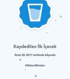 Bir başarı daha! #WaterMinder #hydrate