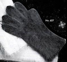Women's Angora Gloves knit pattern published in Gloves and Mittens, Bernhard Ulmann #29.