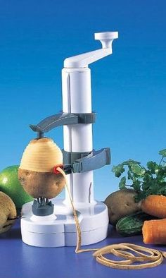 Rotato Potato Peeler: This cool innovative tool peels off potato skin in one continuous spiral.