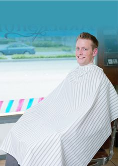 Old Fashion Hair cutting cloth barber cape, Black & White stripe, x longStores White Boy Haircuts, Cool Haircuts, Haircuts For Men, Hair Images, Hair Pictures, Old Fashioned Hairstyles, Shawn Mendes Hair, Black White Stripes, Black And White