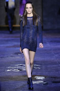 Purple party girl dresses from Versus