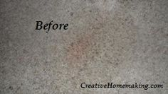 I found out the secret to removing red stains from light colored carpet. This really works! Check out the before and after pics. #cleaning #carpet