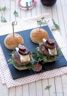 Sabores de colores   Recetas deliciosas con fotos bonitas para cualquier ocasión.: Mini hamburguesas gourmet de foie e higos en vino dulce. Resultado sorteo