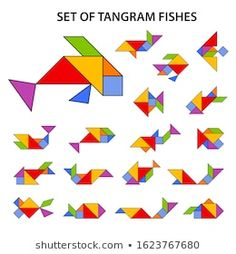 Tangram Printable, Tangram Puzzles, Card Games For Kids, School Posters, Kirigami, Wood Toys, Pattern Blocks, Toddler Activities, Art School
