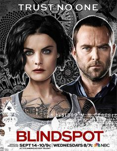 Blindspot: cartaz da 2ª temporada com Jane e Weller