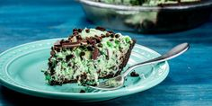 This no-bake mint chocolate chip pie tastes just like the beloved ice cream flavor.