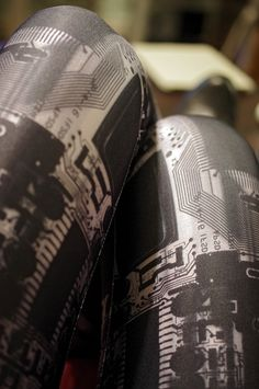 Circuit board tights, for the geek in all of us :)