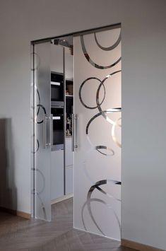 New frosted glass sliding door ideas Sliding Door Design, Main Door Design, Sliding Glass Door, Sliding Doors, Glass Doors, Sliding Room Dividers, Room Divider Doors, Bedroom False Ceiling Design, Luxury Bedroom Design
