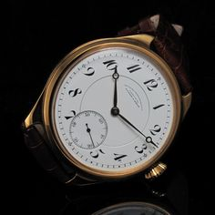 From the description BRIEF MAIN INFORMATION This is a MARRIAGE watch. A marriage watch is the term used for a new, modern case that has been used to house a vintage pocket watch movement. Trendy Watches, Fine Watches, Watches For Men, Gold Pocket Watch, Vintage Pocket Watch, Hand Watch, Automatic Watch, Vintage Watches, Luxury Watches