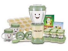 The Baby bullet- make organic home made baby food! When I get pregnant I want THIS!