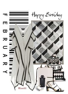 """""""Wambli Happy Birthday in February!"""" by wambliwakan ❤ liked on Polyvore featuring Natural Curiosities, Acler, Marni, Sergio Rossi, Gucci, Quarry and twotonedress"""