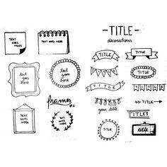 """""""#bulletjournal #titles"""""""