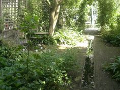 From the Gardenista Gallery: Intimate Gardens for Two - Secret Garden by Richard Miers in London, Gardenista Back Gardens, Small Gardens, Landscape Design, Garden Design, Hidden Garden, Dry Garden, Garden Lanterns, London Garden, Garden Features