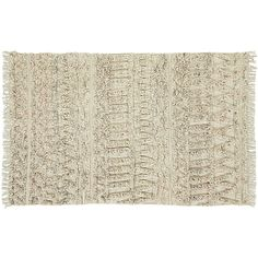 """<span class=""""copyHeader"""">something old, something new.</span>Inspired by the Moroccan tradition of gifted textiles to brides on their wedding day, this handmade rug is love at first sight. Off-white flatweave in wool-cotton blend rises in textural bands of wavy lines and geometric shapes in a multicolored shag of natural mixed with shades of grey and orange. A simple clean fringe frames both ends.<br /><br />Geek out on other '70-inspired furniture and accessories for any space <a…"""