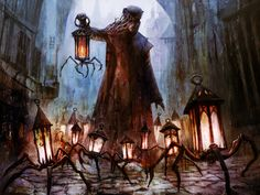 SPIDER-ISH LANTERNS! For Shadows Over Innistrad! Magic the Gathering.
