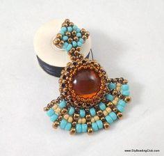 Peyote Stitch: Amber Rays Earrings Tutorial