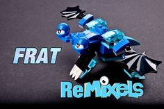 cool LEGO® MIXELS Frosticons Max Remixel - FRAT The Froggy Bat Custom Design Tutorial