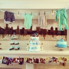 Baby shower decor - valance