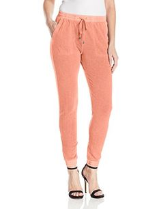 Splendid Womens Vista Active Drawstring Pants Vintage Coral Pink XLarge * You can get more details by clicking on the image.