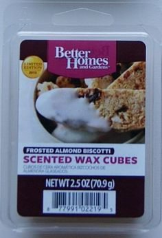Better Homes and Gardens Frosted Almond Biscotti Wax Cubes * Click image for more details. (This is an affiliate link and I receive a commission for the sales)