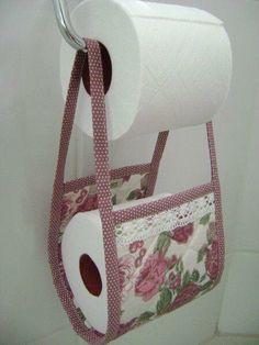 Boa idéia para manter o papel higiênico sempre por perto!