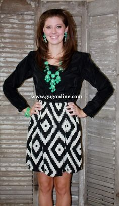 SALE Told in Bold Ivory Aztec Dress FINAL $27.97 www.gugonline.com