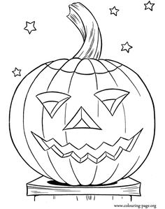 Come have fun coloring this amazing picture of a nice halloween pumpkin! Just print it!