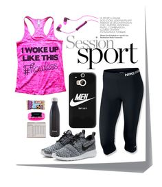 """Gym Time"" by michellemibelle ❤ liked on Polyvore featuring NIKE, Casetify, S'well, Everlast, Skullcandy, Post-It, workout and getstrong"
