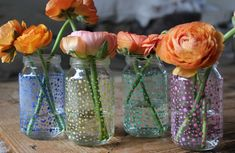 use nail polish to decorate flower vases