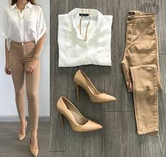 Spring looks for work 2018 casual hijab outfit, business casual outfits, pr Khaki Pants Outfit, Beige Outfit, Casual Hijab Outfit, Casual Work Outfits, Business Casual Outfits, Professional Outfits, Mode Outfits, Work Casual, Classy Outfits