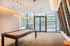 Kitchen Cabinets And Granite, Granite Counters, High Ceilings, Window Wall, Open Concept, Condo, Loft, Windows, Flooring