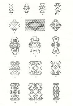 Symbols and ornamental motives in folk art of Moldova - Photo gallery Folk Embroidery, Embroidery Stitches, Embroidery Patterns, Cross Stitch Patterns, Machine Embroidery, Embroidery Techniques, Floral Embroidery, Native Symbols, Islamic Patterns