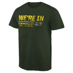 Oregon Ducks 2015 College Football Playoff Rose Bowl Bound We're In T-Shirt - Green